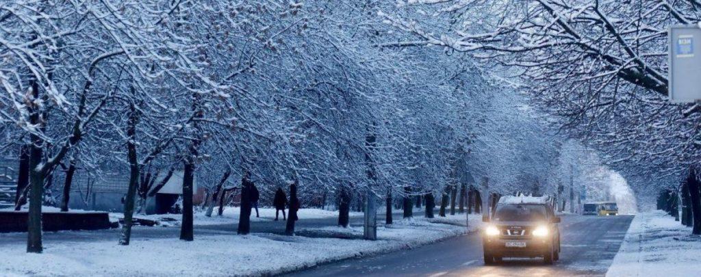 Fahren bei schlechtem Wetter im Winter